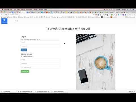 TextWifi Demo (Group 12, COMS6998 Cloud Computing and Big Data)