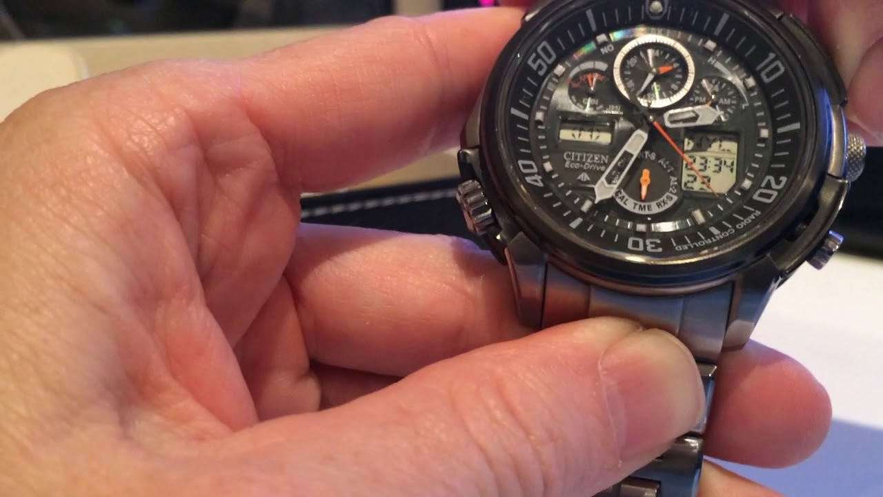 Promaster skyhawk a-t men's eco-drive jy8075-51e black watch.