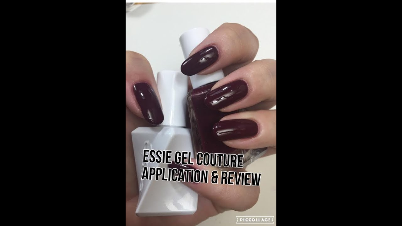 PART ONE Essie Gel Couture Application & Review - YouTube
