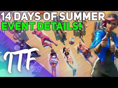 NEW Fortnite 14 Days Summer Event Details! (Fortnite Battle Royale)