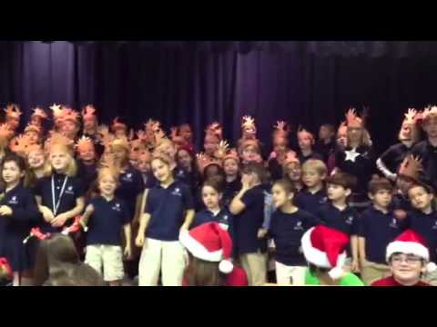 Holy Nativity Episcopal School Christmas Chapel 2011 - Reindeer Song