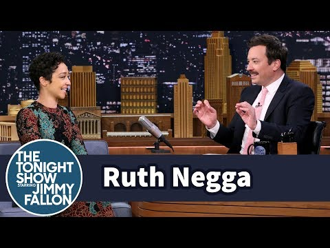 Ruth Negga Gets Distracted by Jimmy's '80s Irish Politician Mustache