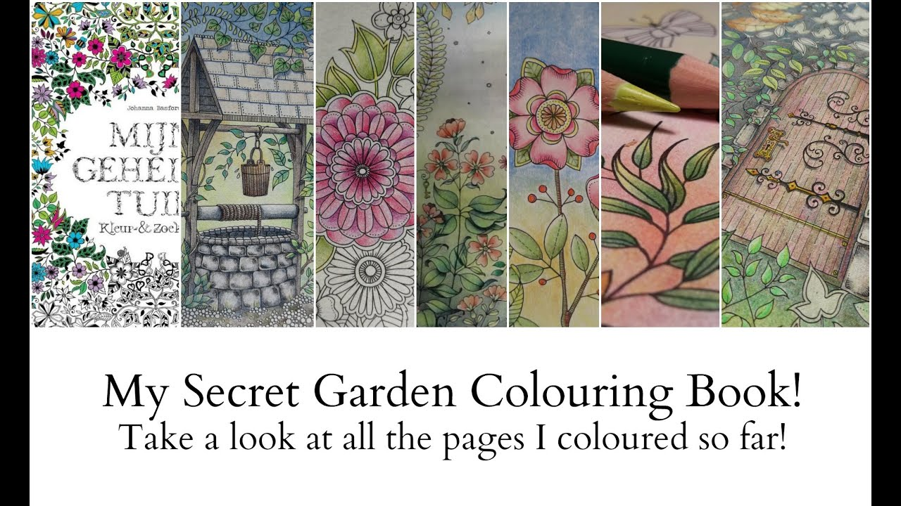 my secret garden colouring book youtube - My Secret Garden Coloring Book