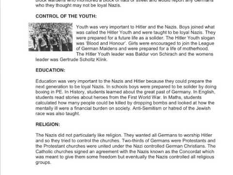 Yr 9 - The Nazi Dictatorship