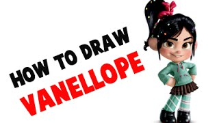 "How to Draw Vanellope Von Schweetz ""Glitch""  From Wrecki-It Ralph"