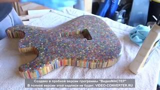 Сделай Гитару из Цветных Карандашей