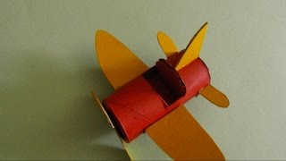 Airplane Made From A Toilet Paper Roll