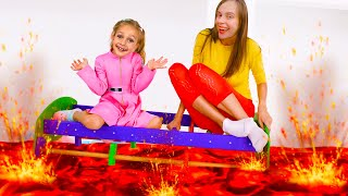 The Floor is Lava - Children Song by Maya and Mary