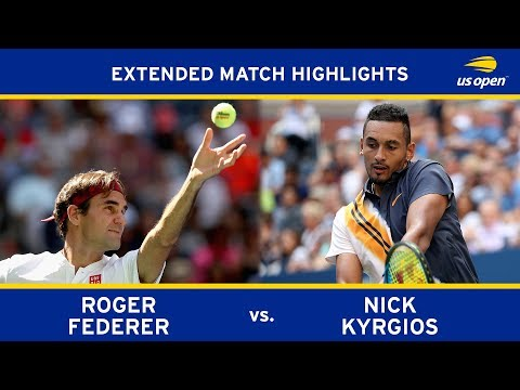 Roger Federer Vs Nick Kyrgios Extended Highlights | US Open 2018 Round 3
