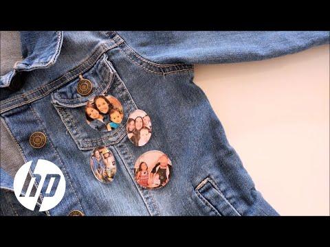 How to Make DIY Photo Pins | HP Printers | HP