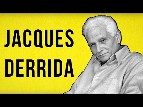 PHILOSOPHY: Jacques Derrida