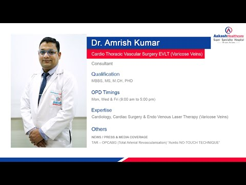 Dr. Amrish Kumar, Consultant - CTVS, Speaking About The Department Of Cardiac Surgery