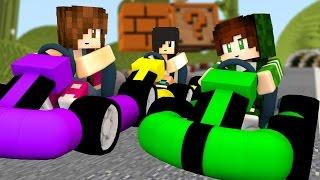 Minecraft Minigames - CORRIDA DE KART EM FAMÍLIA