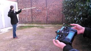 EIP Orbit - Drone stabilization on wall using optical flow + rangefinder