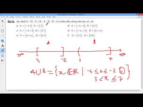 [TOÁN 10] I.2.9 TẬP HỢP - Bài 9 36 Xác định A giao B, A hợp, hiệu B trên trục số