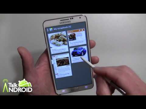 How to use Scrap Book on the Samsung Galaxy Note 3