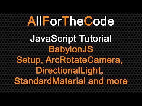 TUTORIAL: JavaScript A basic BabylonJS scene.