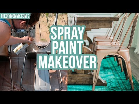 Easy Farmhouse Chair Makeover ⭐ How To Spray Paint Furniture