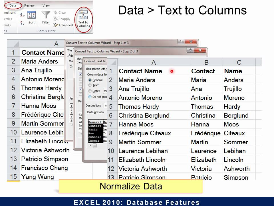 excel 2010 database features youtube