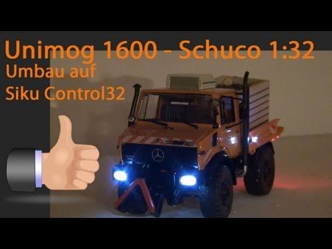 Unimog 1600 Kommunal Schuco 1:32 Siku Control Umbau 2,4 GHz Modell-Trecker-Tuning