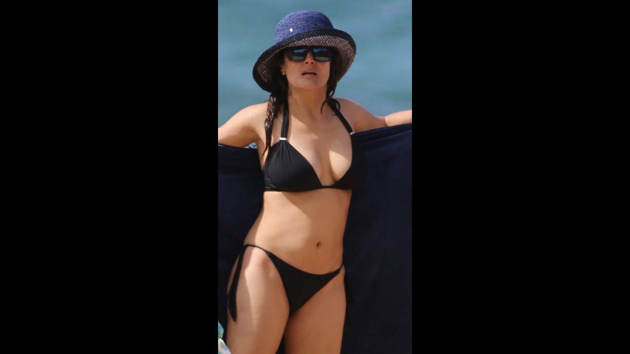 Salma Hayek In Bikini-...