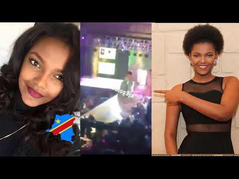 La Gagnante De Miss Afrique 2018, La Congolais Dorcas Dienda A Eu Un Accident Sur Le Podium