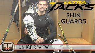 CCM Ultra Tacks Shin Guards // On-Ice Review