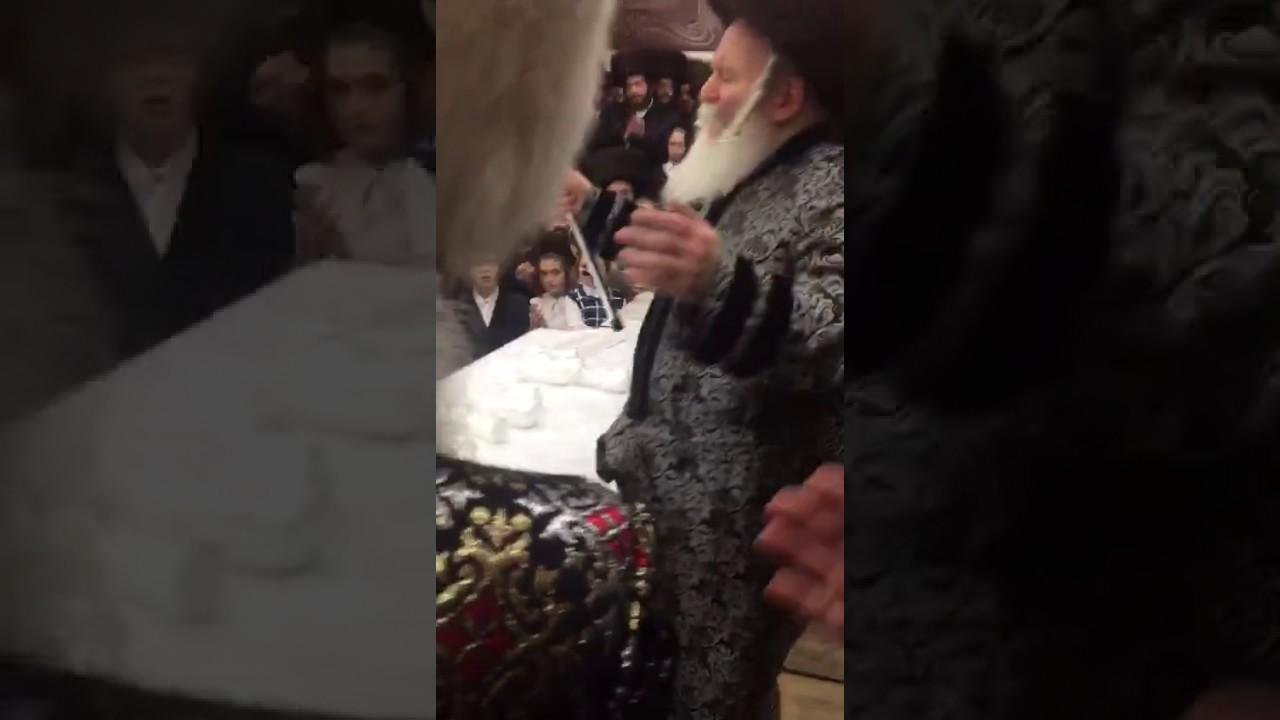 More Purim 5777 With Bobover Rebbe