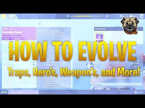 Fortnite - HOW TO EVOLVE EVERYTHING! (Fortnite Evolution Guide)