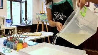 О рисовании на воде за 1 минуту