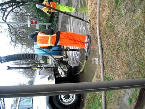 1/23/12 Rain storm Citrus Heights flooding storm drain cleanup p6