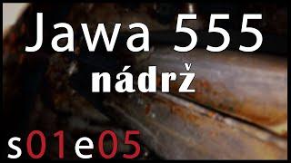 Odrezování nádrže od pionýra Jawa 50/555