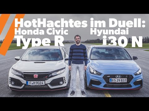 HotHatch Duell Honda Civic Type R vs. Hyundai i30 N