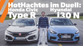 HotHatch Duell Honda Civic Type R vs. Hyundai i30 N