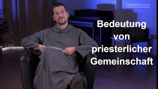Die Bedeutung der priesterlichen Gemeinschaft (Johannes-Elias Schneider CSJ)