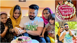 My 3rd Anniversary Celebration And A Kutty Story 🥰 | Mashura | Basheer Bashi | Suhana