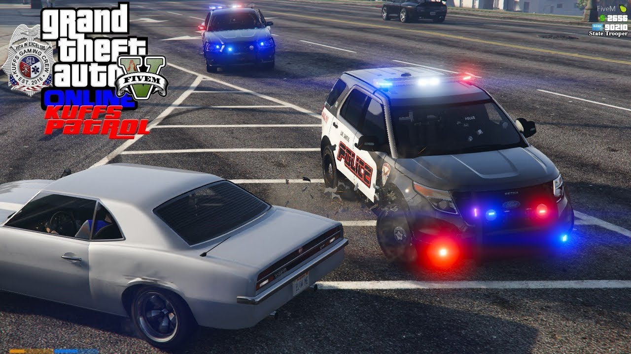 GTA 5 Roleplay #380 Police Pit Maneuver Ends Armed Robbery Pursuit - KUFFS  FiveM