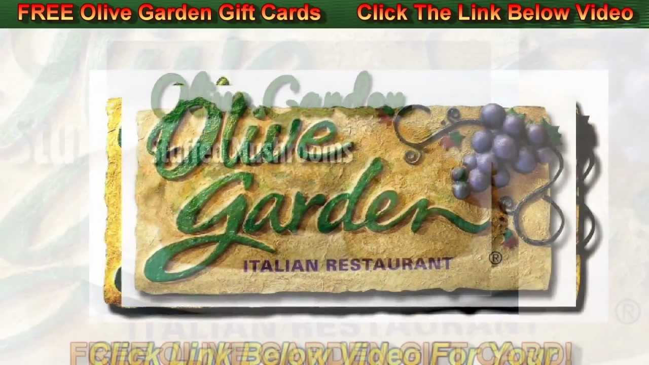 Online Olive Garden Gift Cards Free Youtube