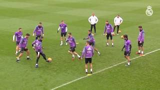 The team finalised preparation for the match against Deportivo   Real Madrid CF