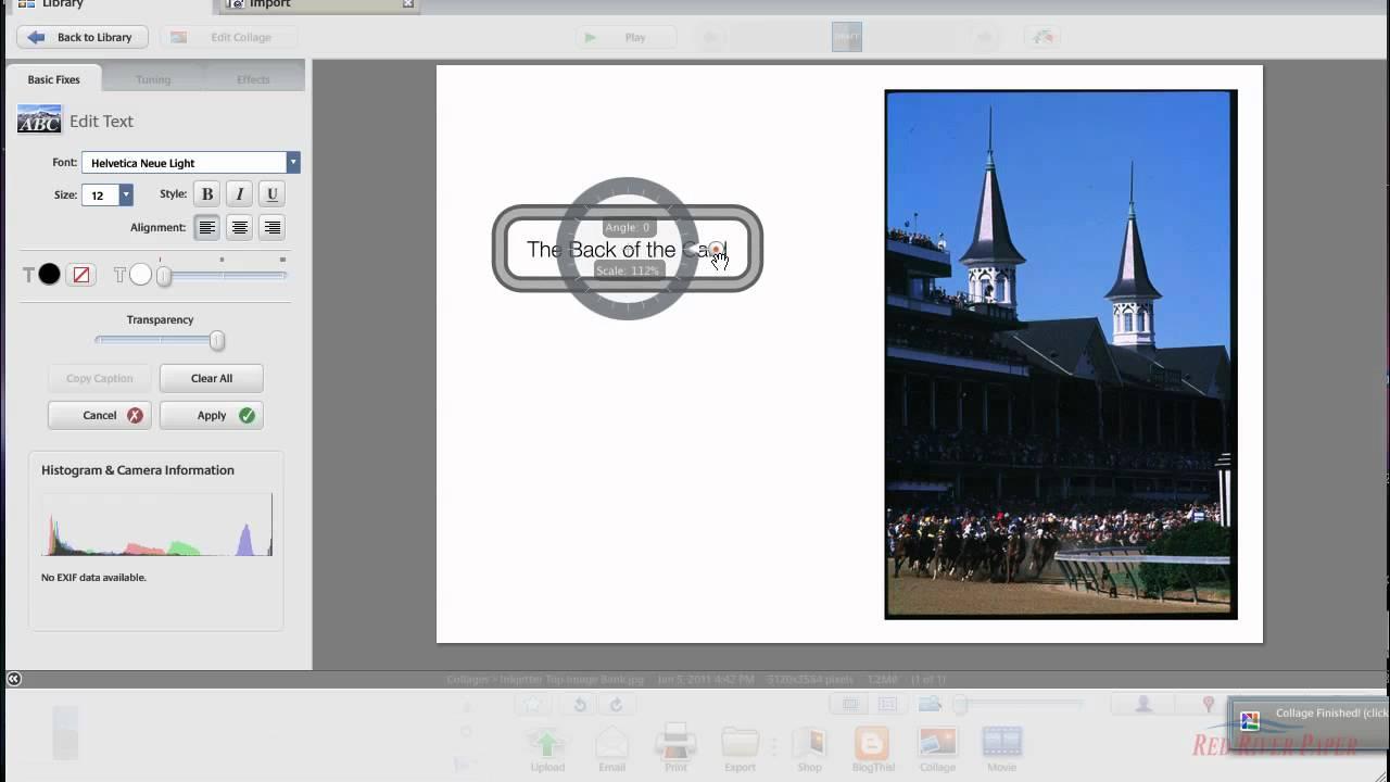 Picasa Tutorial - Photo note card setup and printing Mac HP printer  Vertical Image Layout