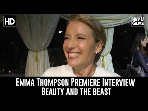 Emma Thompson Premiere Interview - Beauty and the Beast