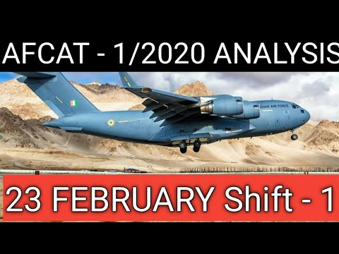 Afcat 1 2020 Exam Review 23 February Shift -1 Questions & Answer