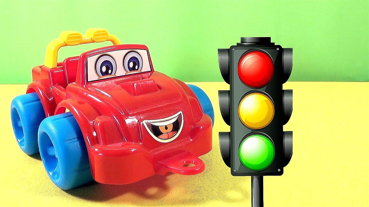 Детские картинки светофора и машины