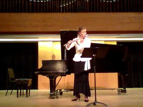Nancy Stagnitta, flute: Bach Partita in a minor, Allemande