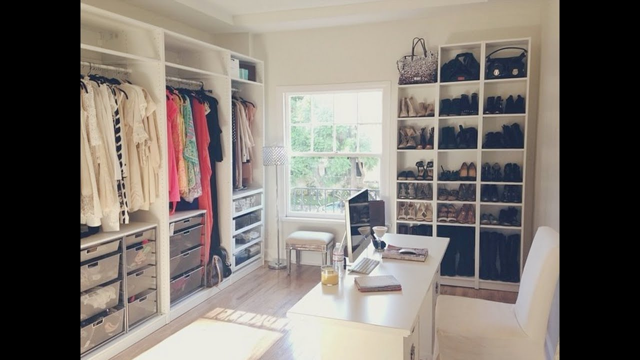 My Shoe Wall: Walk In Closet Update - YouTube