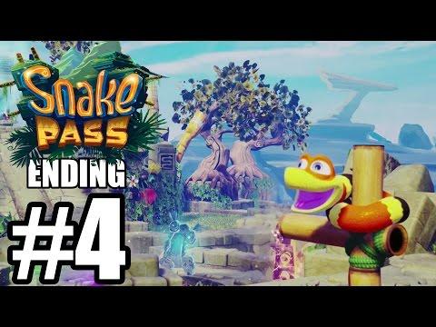 Snake Pass ENDING & Credits - Gameplay Walkthrough Part 4 - World 4