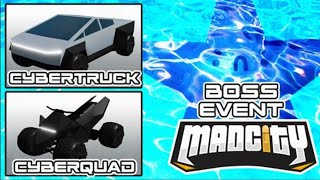 🔴 MAD CITY NEW STARFISH BOSS FIGHT EVENT | Tesla Cyber Truck & Cyber Quad | Roblox Mad City LIVE