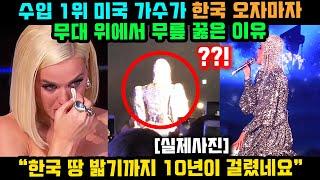 수입 1위 미국 유명 가수가 한국 오자마자 무대 위에서…