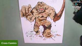 Daily live drawing Clayface from DC Comics