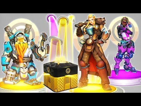NEW ANNIVERSARY LOOTBOX OPENING - New Legendary Skins, Emotes, Sprays & Items [Overwatch]